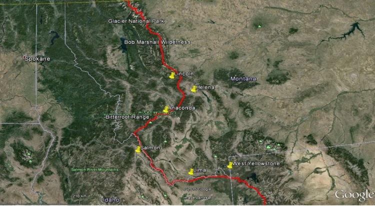 Map of ADA - Montana