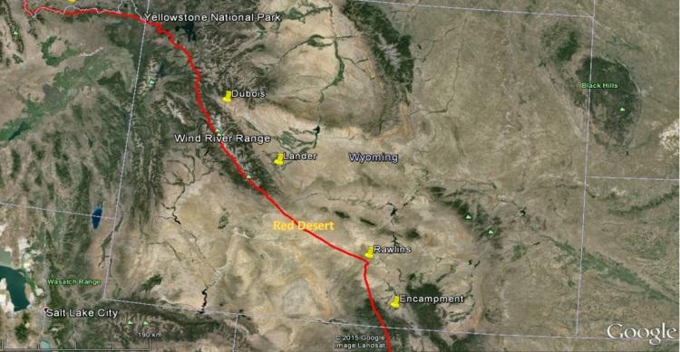 Map of ADA - Wyoming