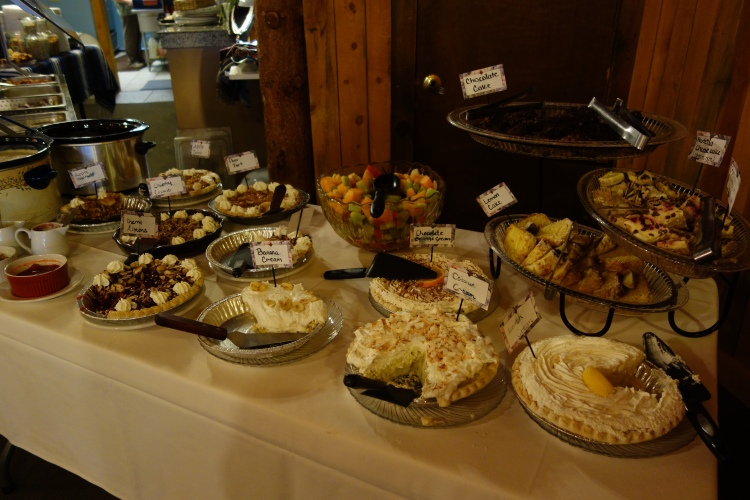 The buffet the morning we left Grand Lake. It was done by an English lady witb a drinking problem. But boy - was it good!