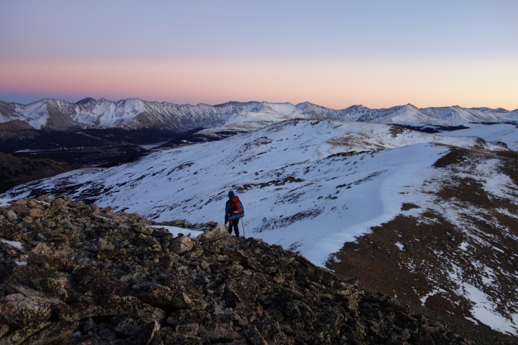 Walking the ridge.