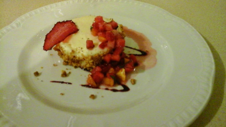 Strawberry cheesecake with a hazelnut crust. Who needs Twinkies!